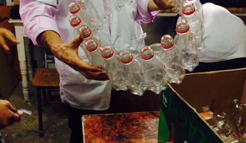 Reutiización de las botellas de plástico