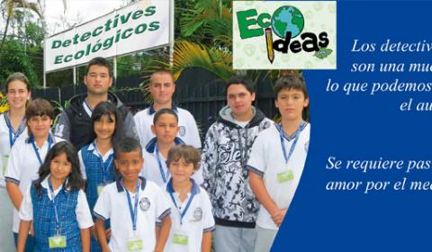 Grupo de estudiantes llamados DETECTIVES ECOLOGICOS