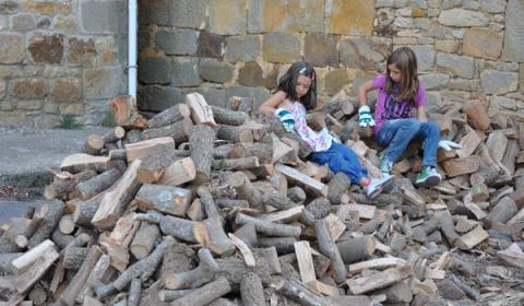 madera recogida por los vecinos